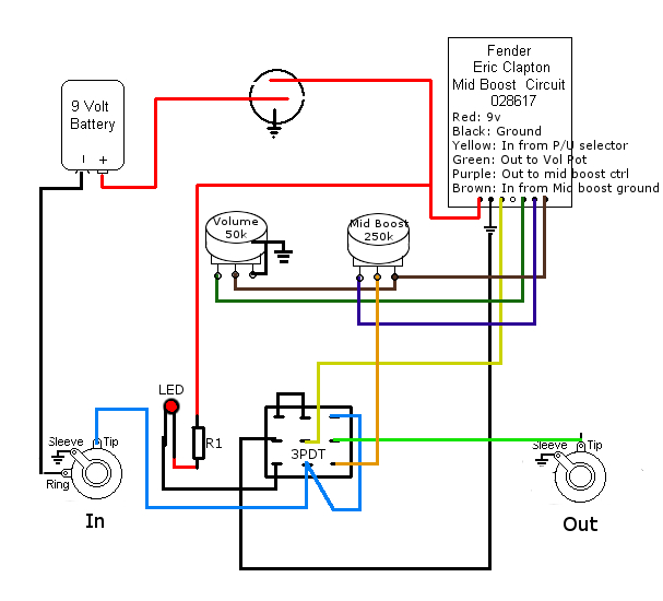Boost Pedal Wiring Diagram   Wiring Schematic Diagram - 21 ... on